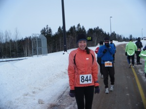 Half Marathon start line on a cold day