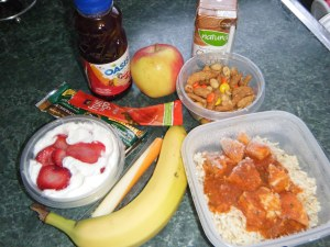 Marathon runner's high calorie, high protein lunch