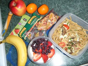A look at a marathon runner's lunch box