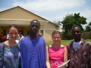 Canadian nurses and Gambian youth