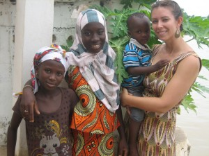 a canadian in The Gambia with her new Gambian family