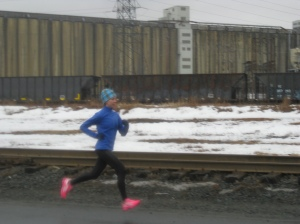 a runner at the Halifax Seaport, Margical Road
