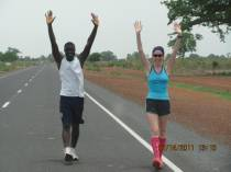 Runners run 31km in The Gambia