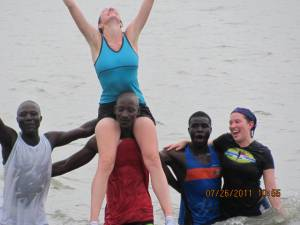 Runners in the Atlantic Ocean, Love4Gambia Run