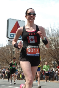 Boston Marathon Erin Poirier Citgo Sign mile 25